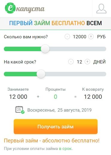 Оформление займа на официальном сайте организации