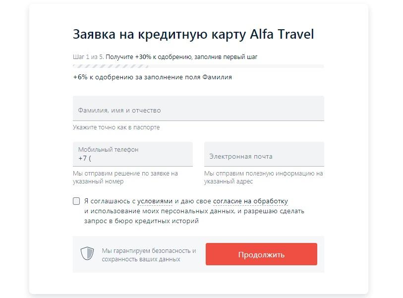 Кредитка Альфа-Банк AlfaTravel Premium